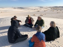 Meditation in the White Sands New Mexico